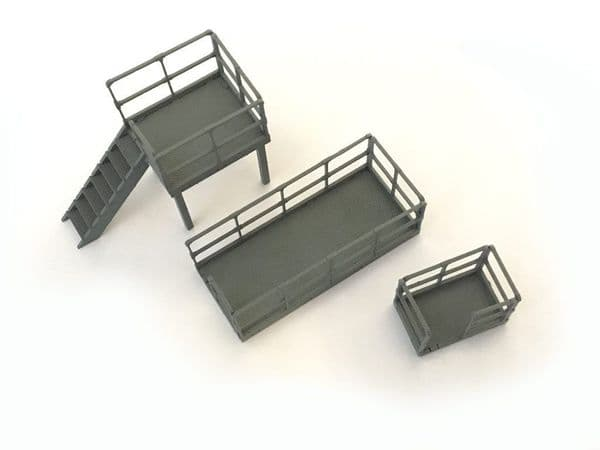 LX148-OO Relay Box/Trackside Platforms (Mixed pack) OO/4mm/1:76